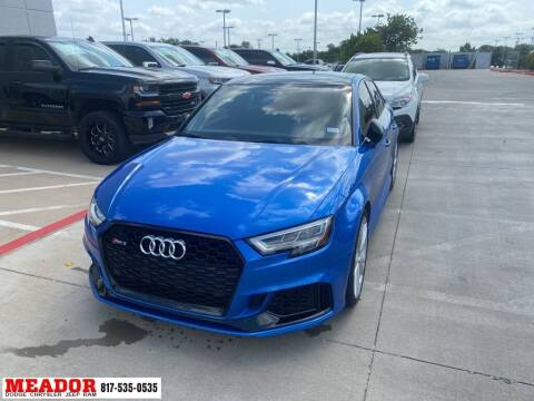 2018 Audi RS 3 for sale at Meador Dodge Chrysler Jeep RAM in Fort Worth TX