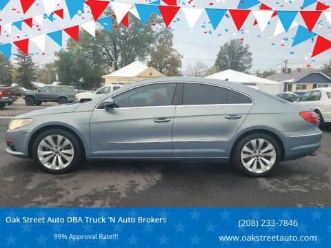2010 Volkswagen CC for sale at Oak Street Auto DBA Truck 'N Auto Brokers in Pocatello ID