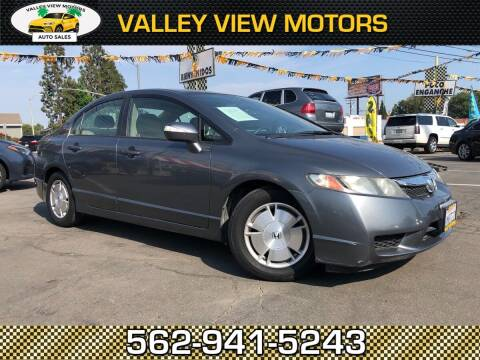2010 Honda Civic for sale at Valley View Motors in Whittier CA