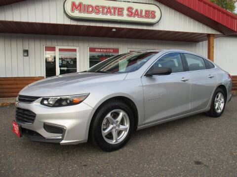 2017 Chevrolet Malibu for sale at Midstate Sales in Foley MN