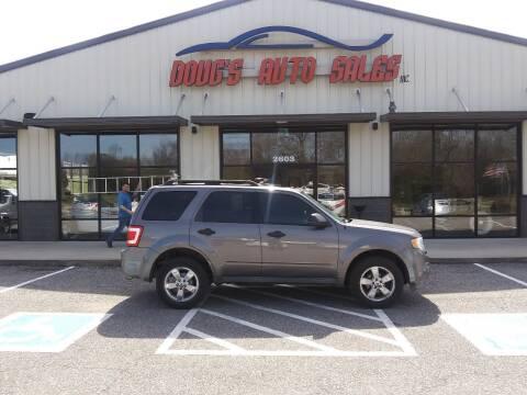 2010 Ford Escape for sale at DOUG'S AUTO SALES INC in Pleasant View TN