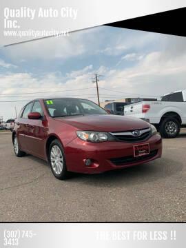 2011 Subaru Impreza for sale at Quality Auto City Inc. in Laramie WY