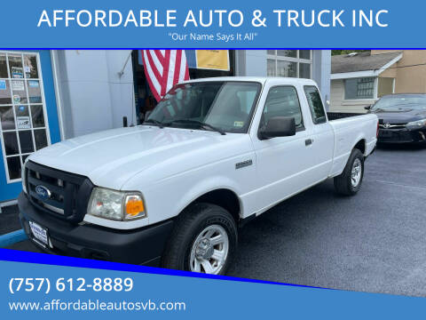 2011 Ford Ranger for sale at AFFORDABLE AUTO & TRUCK INC in Virginia Beach VA