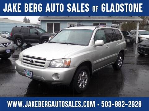 2005 Toyota Highlander for sale at Jake Berg Auto Sales in Gladstone OR