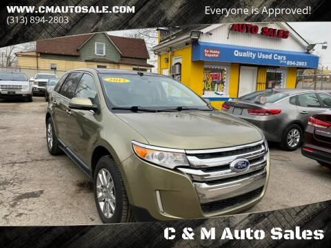 2012 Ford Edge for sale at C & M Auto Sales in Detroit MI