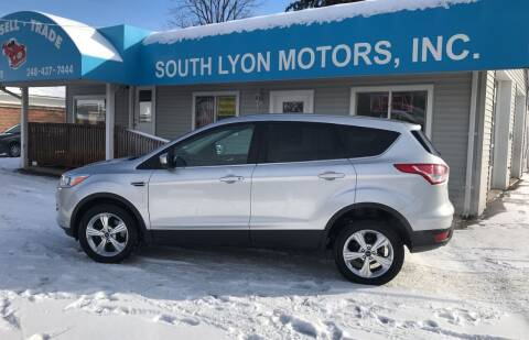 2014 Ford Escape for sale at South Lyon Motors INC in South Lyon MI