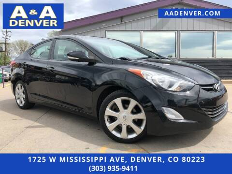 2011 Hyundai Elantra for sale at A & A AUTO LLC in Denver CO