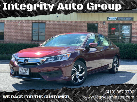 2017 Honda Accord for sale at Integrity Auto Group in Westminister MD