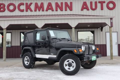 2006 Jeep Wrangler for sale at Bockmann Auto Sales in St. Paul NE