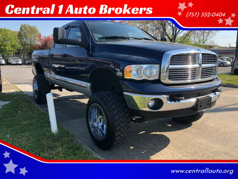 2004 Dodge Ram Pickup 2500 for sale at Central 1 Auto Brokers in Virginia Beach VA