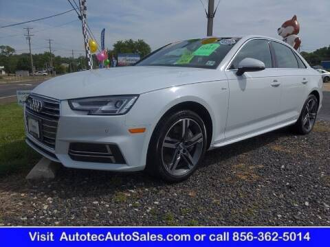 2018 Audi A4 for sale at Autotec Auto Sales in Vineland NJ