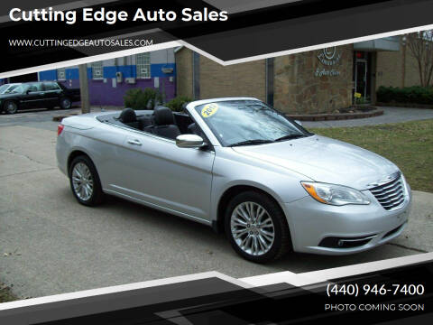2012 Chrysler 200 Convertible for sale at Cutting Edge Auto Sales in Willoughby OH