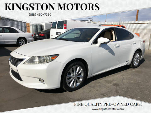 2013 Lexus ES 300h for sale at Kingston Motors in North Hollywood CA