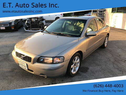 2002 Volvo S60 for sale at E.T. Auto Sales Inc. in El Monte CA