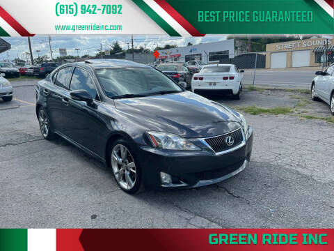 2010 Lexus IS 250 for sale at Green Ride Inc in Nashville TN