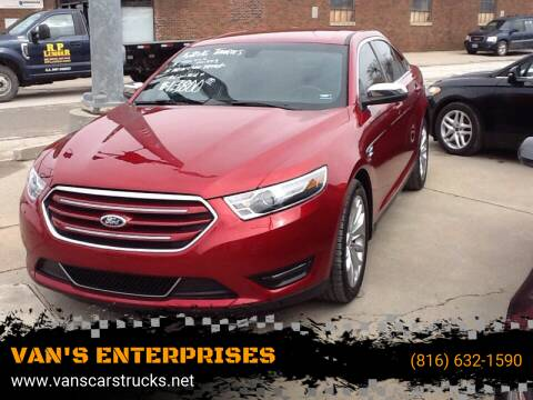2016 Ford Taurus for sale at VAN'S ENTERPRISES in Cameron MO