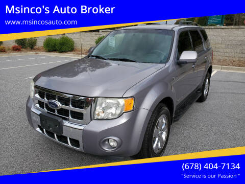 2008 Ford Escape for sale at Msinco's Auto Broker in Snellville GA