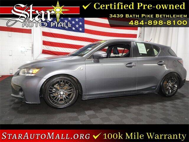2012 Lexus CT 200h for sale at STAR AUTO MALL 512 in Bethlehem PA