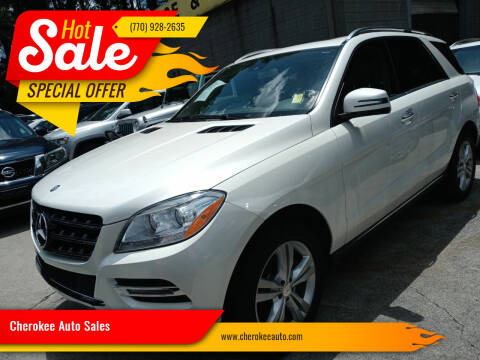 2013 Mercedes-Benz M-Class for sale at Cherokee Auto Sales in Acworth GA