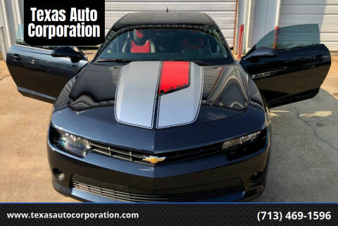 2014 Chevrolet Camaro for sale at Texas Auto Corporation in Houston TX