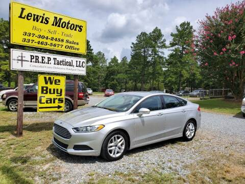 2015 Ford Fusion for sale at Lewis Motors LLC in Deridder LA