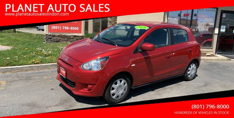 2015 Mitsubishi Mirage for sale at PLANET AUTO SALES in Lindon UT