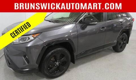2019 Toyota RAV4 Hybrid for sale at Brunswick Auto Mart in Brunswick OH