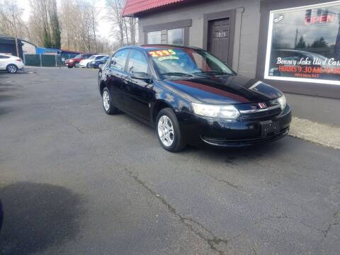 2004 Saturn Ion for sale at Bonney Lake Used Cars in Puyallup WA