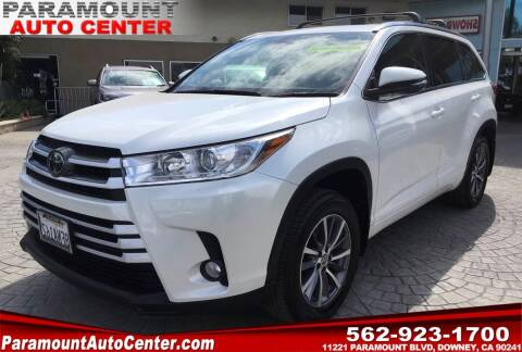 2018 Toyota Highlander for sale at PARAMOUNT AUTO CENTER in Downey CA