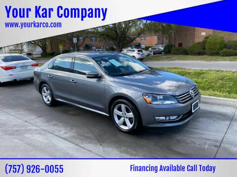 2015 Volkswagen Passat for sale at Your Kar Company in Norfolk VA