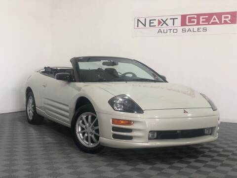 2001 Mitsubishi Eclipse Spyder for sale at Next Gear Auto Sales in Westfield IN
