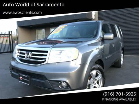 2013 Honda Pilot for sale at Auto World of Sacramento Stockton Blvd in Sacramento CA