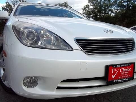 2005 Lexus ES 330 for sale at 1st Choice Auto Sales in Fairfax VA
