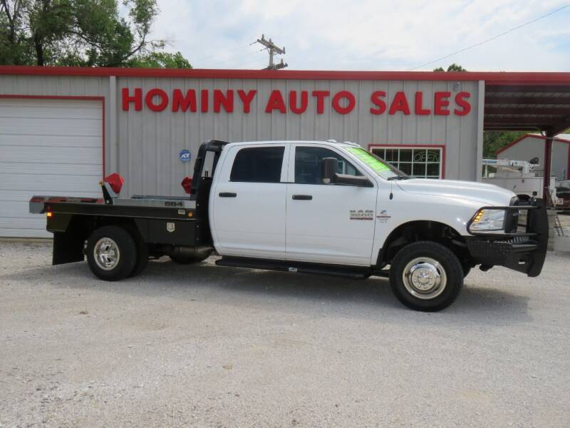 2018 RAM Ram Chassis 3500 for sale at HOMINY AUTO SALES in Hominy OK