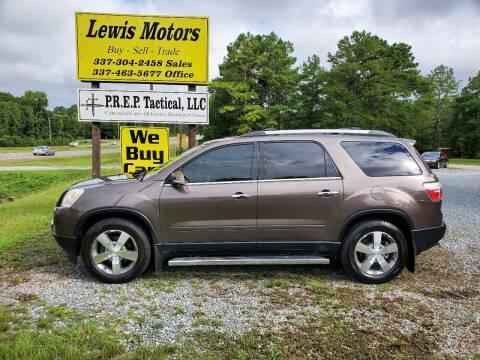 2012 GMC Acadia for sale at Lewis Motors LLC in Deridder LA