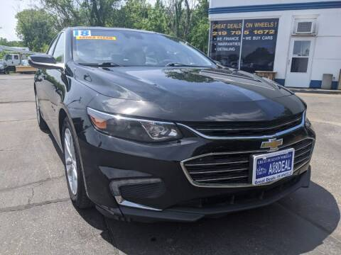 2018 Chevrolet Malibu for sale at GREAT DEALS ON WHEELS in Michigan City IN