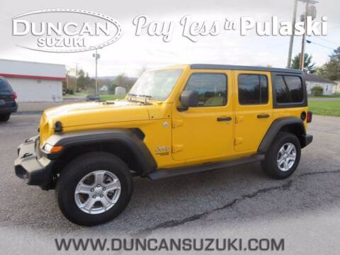 2020 Jeep Wrangler Unlimited for sale at DUNCAN SUZUKI in Pulaski VA