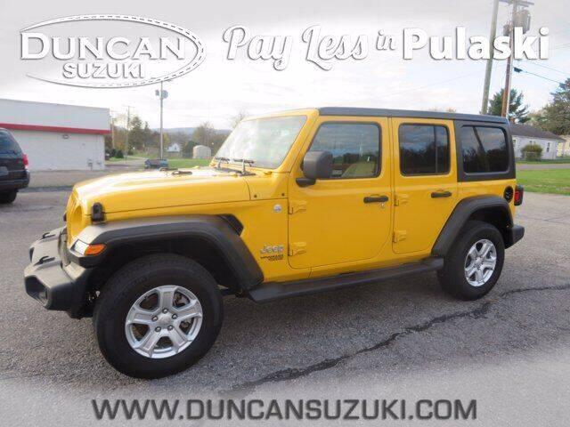 2020 Jeep Wrangler Unlimited for sale at DUNCAN SUZUKI in Pulaski VA