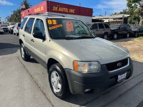 2003 Ford Escape for sale at 3K Auto in Escondido CA