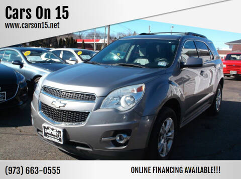 2012 Chevrolet Equinox for sale at Cars On 15 in Lake Hopatcong NJ