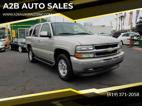 2006 Chevrolet Tahoe for sale at A2B AUTO SALES in Chula Vista CA