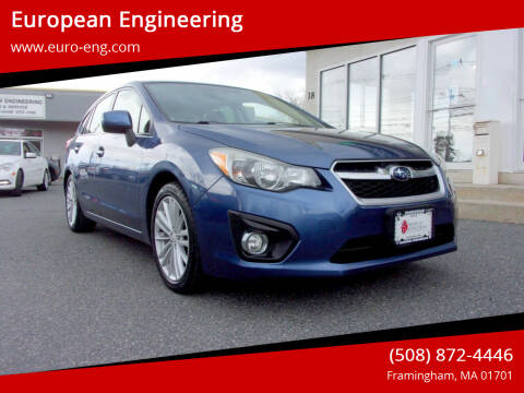2013 Subaru Impreza for sale at European Engineering in Framingham MA