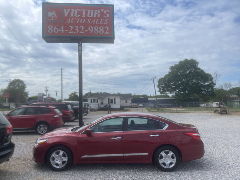 2016 Nissan Altima for sale at Victor's Auto Sales in Greenville SC