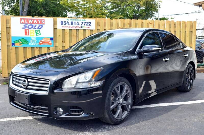 2014 Nissan Maxima for sale at ALWAYSSOLD123 INC in Fort Lauderdale FL
