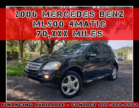 2006 Mercedes-Benz M-Class for sale at AFFORDABLE ONE LLC in Orlando FL