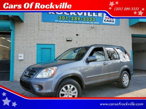 2006 Honda CR-V for sale at Cars Of Rockville in Rockville MD