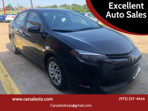 2018 Toyota Corolla for sale at Excellent Auto Sales in Grand Prairie TX