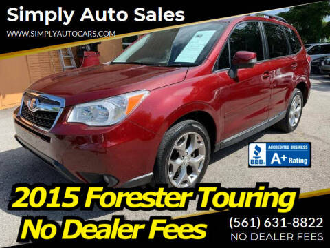 2015 Subaru Forester for sale at Simply Auto Sales in Palm Beach Gardens FL