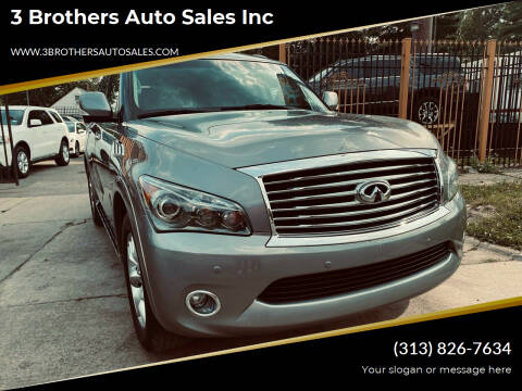 2014 Infiniti QX80 for sale at 3 Brothers Auto Sales Inc in Detroit MI