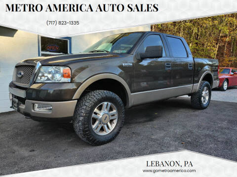 2005 Ford F-150 for sale at METRO AMERICA AUTO SALES of Lebanon in Lebanon PA